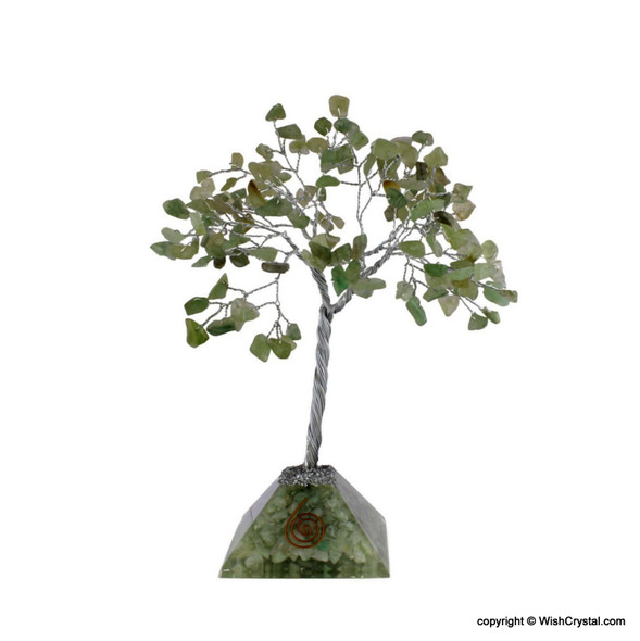 Crystal Gem tree with Orgonite Pyramid