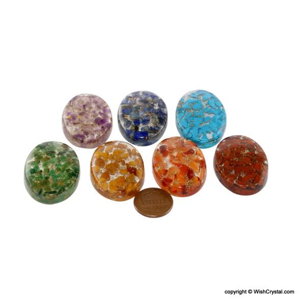 Orgonite Oval Worry Stone Chakra Set