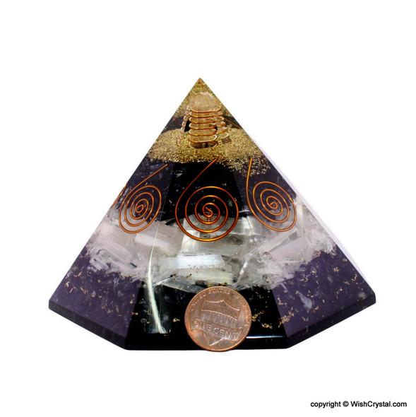 Chakra Stones Orgonite Octagone Pyramid - Big Size