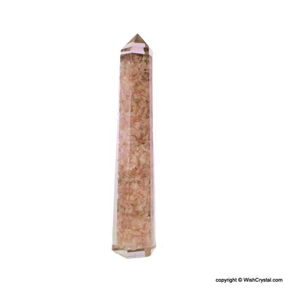 Rose Quartz Orgonite Obelisk Tower
