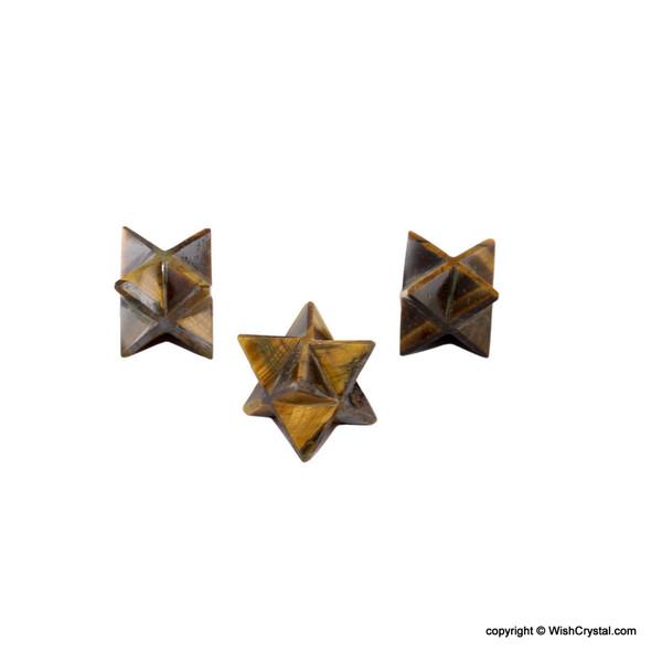 Tiger Eye Merkaba Stars