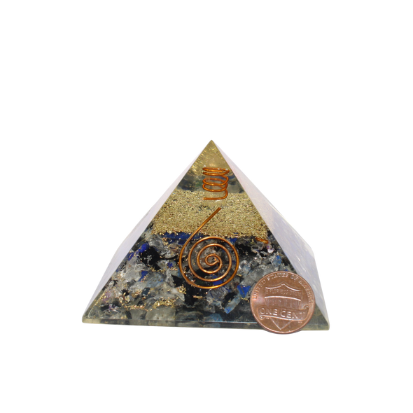 Orgonite Pyramid with multiple Crystals