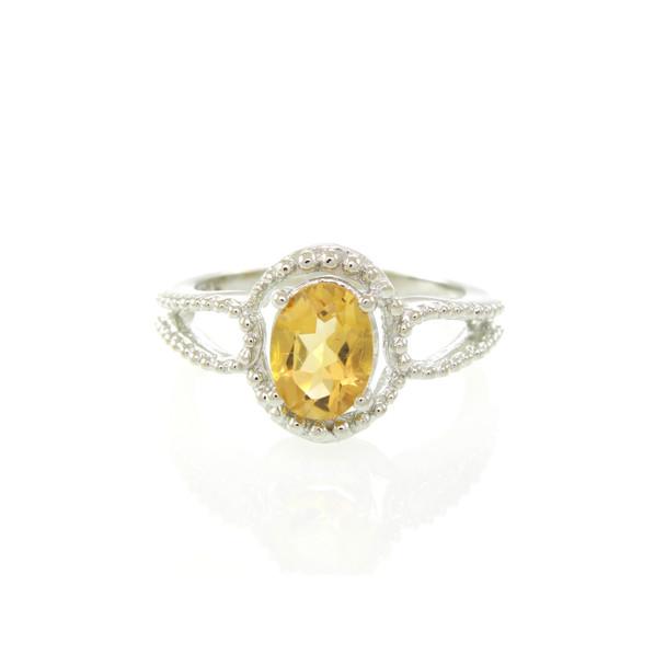 Citrine Gemstone wholesale silver rings