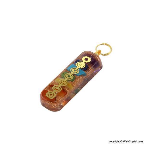 Chakra Orgonite Pendant with Chakra Signs - Engraved