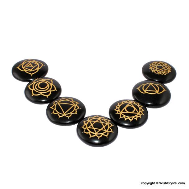 Black Obsidian Chakra Stone Set