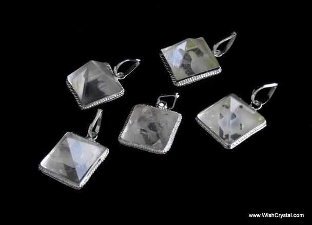 Crystal Quartz Pyramid Pendant