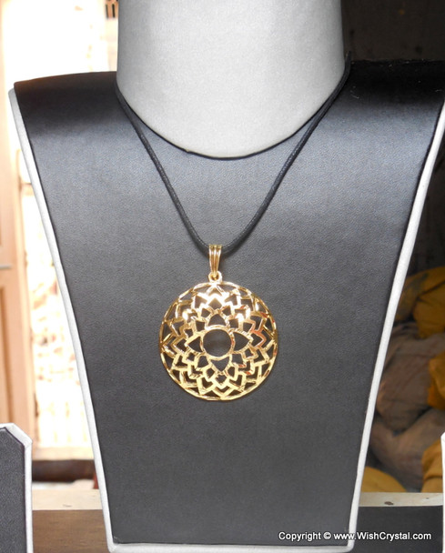 Crown Chakra Pendant Gold Plated