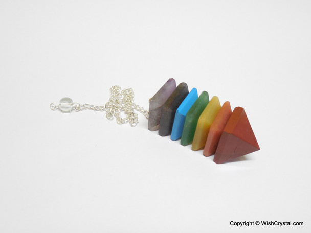 Chakra Stones Pyramid Bonded Pendulum