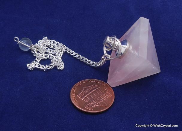 Rose Quartz Pyramid Pendulum