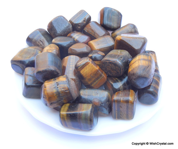 Tiger Eye Tumbles Bag per Kilogram