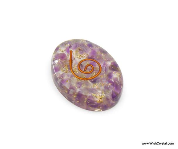 Amethyst Orgonite Oval Worry Stone