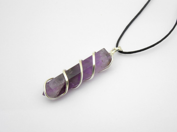 Amethyst Point Wire Wrapped Pendant