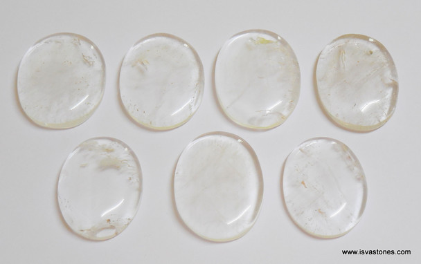 Crystal Quartz Oval Worry Stone