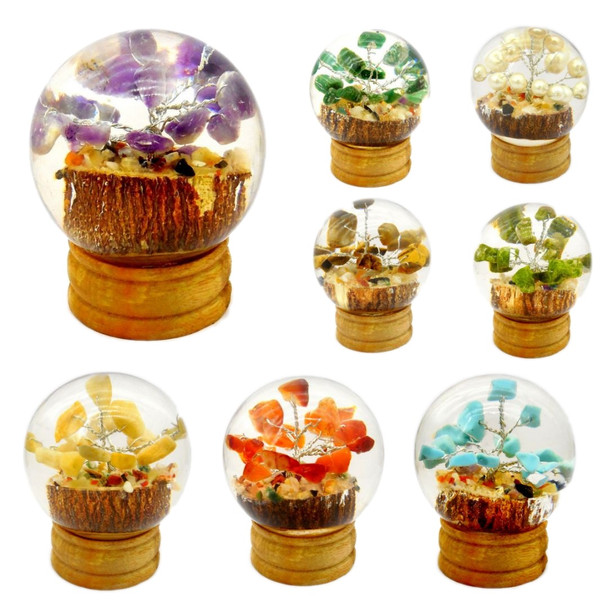 Bag of 20 mixed Orgonite Spheres with Crystal Trees