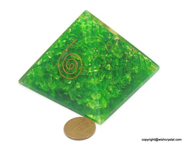 Heart Chakra Orgonite Pyramid - 40 mm