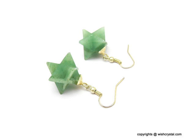 Jade Quartz Merkaba Earrings