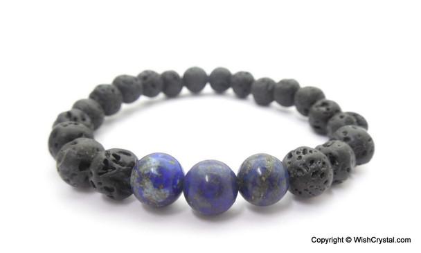 Sodalite & Lava Beads Chakra Bracelet