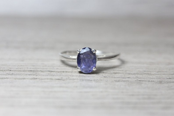 4 Prong Gemstone Silver Ring