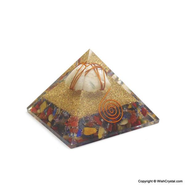 Rainbow moonstone Orgonite Pyramid