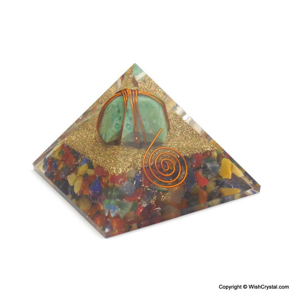 Ruby Fuschite Wire-wrapped Orgonite Pyramids