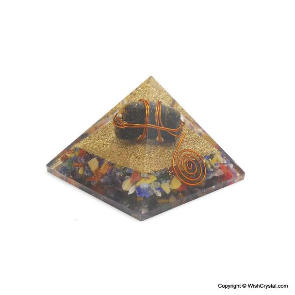 Tiger Eye Wire-wrapped Orgonite Pyramids