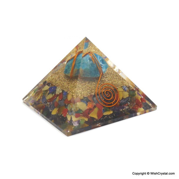 Apetite wire-wrapped orgonite pyramids