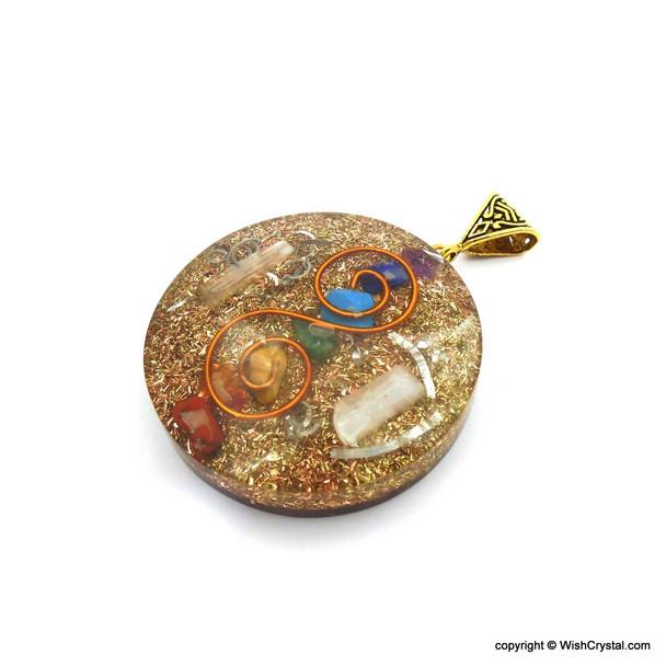 Orgonite Chakra Pendant with Copper Coil - Super 7 - 2