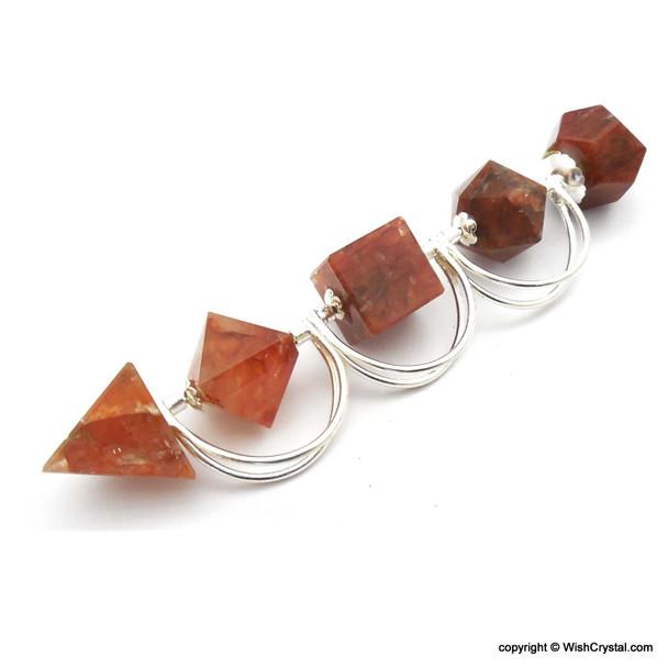 Red Aveturine Sacred Geometry Set