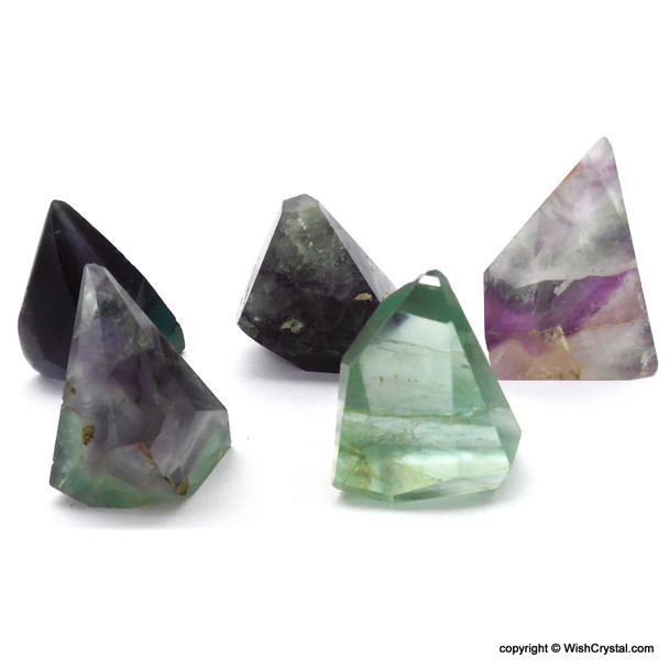 Natural Multi-fluorite Crystal Points
