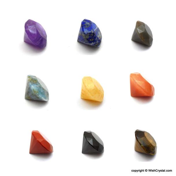 Bag of 10 Mixed Natural Diamond Shape Meditation Chakra Stone