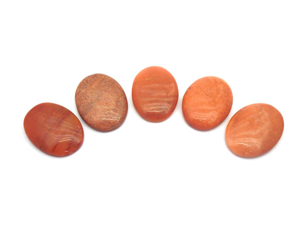 Red Aventurine Cabochons for healing - Oval Shape