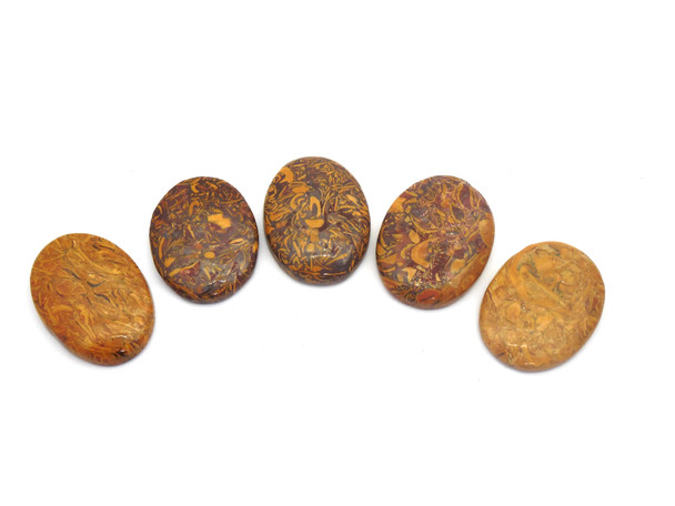 Caligraphy Stone Cabochons for Healing - oval shape