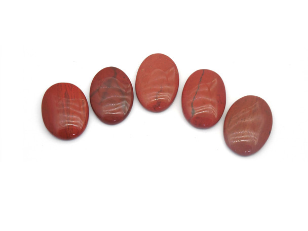 Red Jasper Cabochons for Healing - Oval Shape