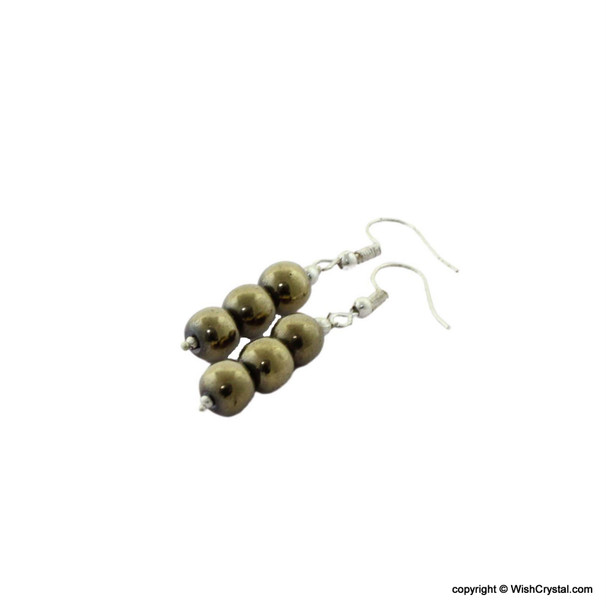 Pyrite Beads Earrings