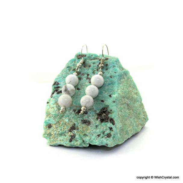 White Jasper Beads Earrings