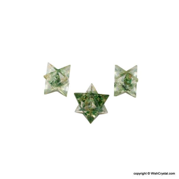 Green Aventurine Orgonite Merkaba Star