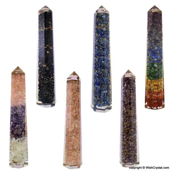 Rose Quartz Orgonite Obelisk TowLapis Lazuli Obelisk Orgonite Wander