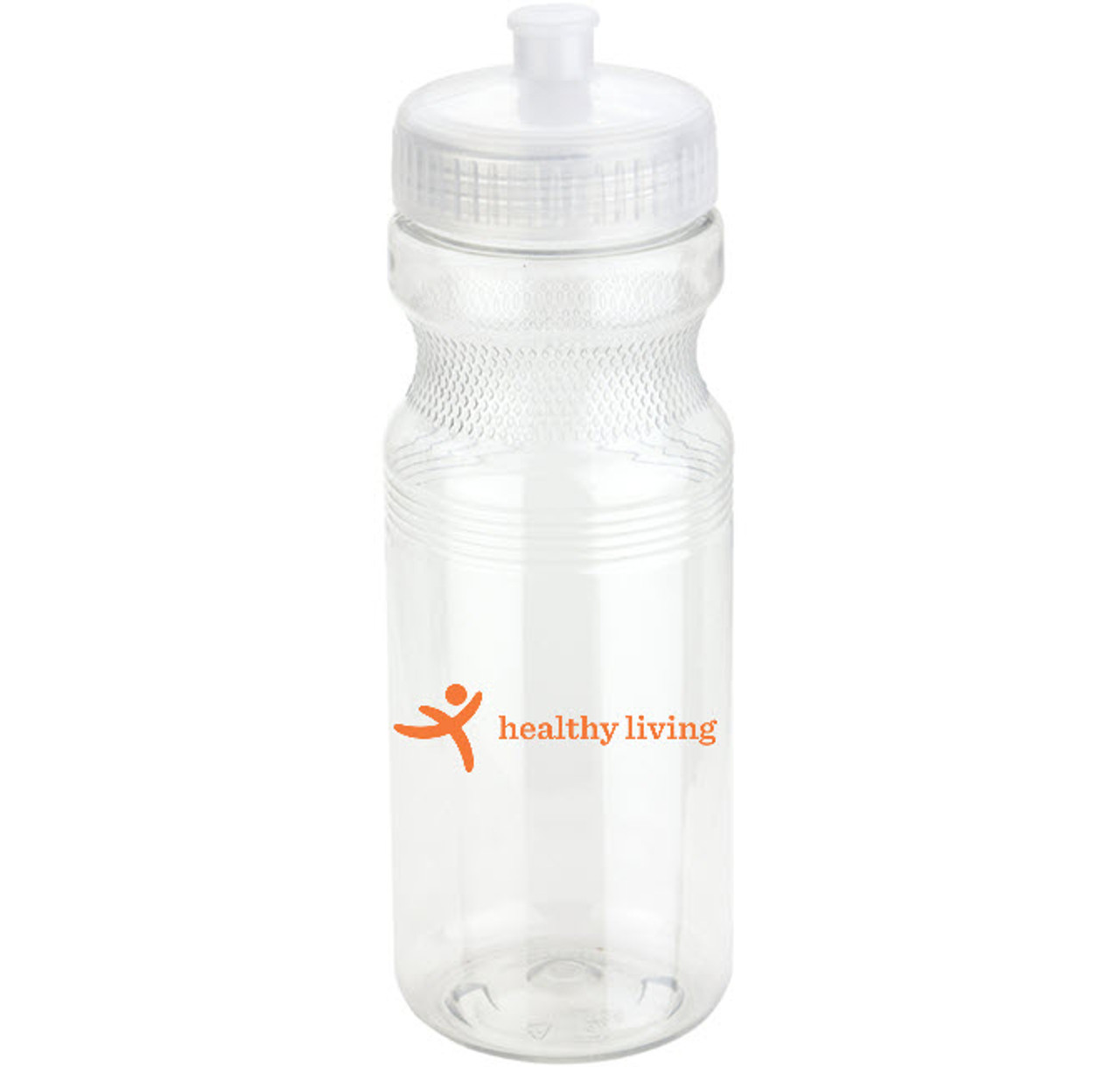 24 oz PET Eco-Polyclear™ Bottle with Push-Pull Lid
