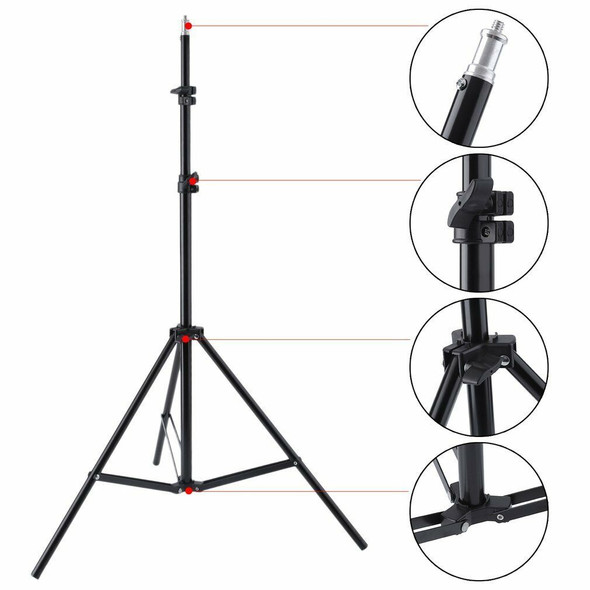 Qihe QH-J190 190cm 3 Sections Light Stand 三節可伸縮燈架