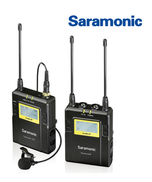 Saramonic UwMic9-HK RX9+TX9 一對一無線單反領夾咪