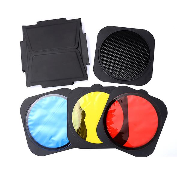 Jinbei 金貝 JB-A 擋光板+蜂巢罩+濾色片套裝 (55°標準反光罩專用)