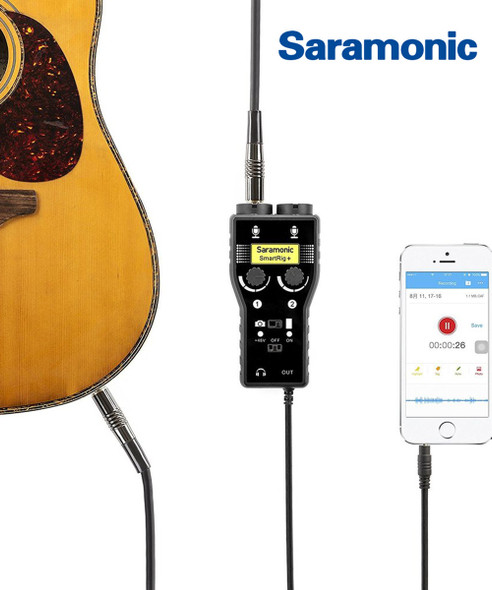 Saramonic Smartrig+ 2頻道 XLR單反音源轉接器