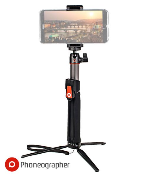 Phoneographer SC1 MK20碳纖版藍牙電話自拍棍連三腳座