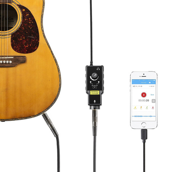 Saramonic SmartRig-Di XLR Microphone & 6.3mm Guitar Interface with iPhone Lightning Connector