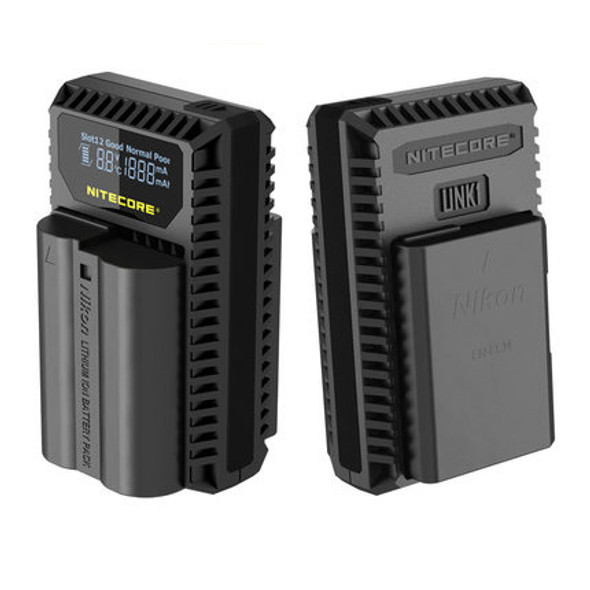 Nitecore UNK1 Nikon EN-EL15 and EN-EL14/14a USB 雙位電池充電座