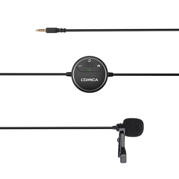 Comica CVM-V03 (SIG.LAV) Lavalier Microphone 可調增益 全指向性領夾式收音咪 相機 電話 Gopro