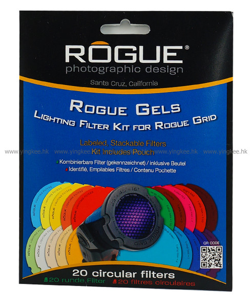 美國Rogue Grid Gels Combo Filter Kit閃光燈蜂巢罩濾色片Gel紙套装