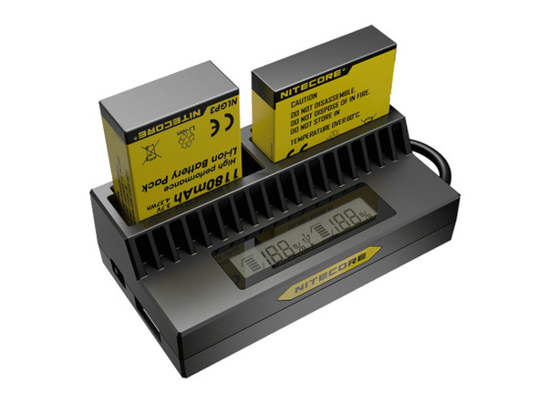 Nitecore UGP4 Gopro3/4 USB 雙位電池充電座