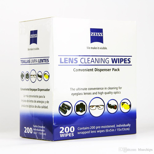 Zeiss Lens Cleaning Wipes 蔡司專業光學擦鏡紙 200片裝