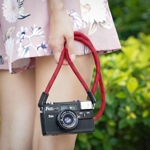 A-MoDe Rope Camera Strap Red Black 法國Beal 登山繩 120cm